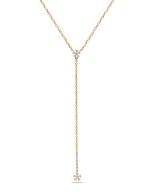 Diamond Flower Lariat