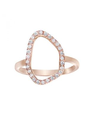 Trendy Diamond in Rose Gold Ring