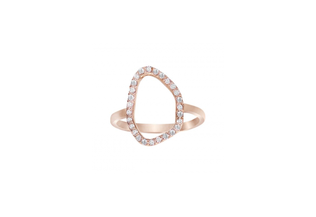 Rose Gold and Diamond Abstract
