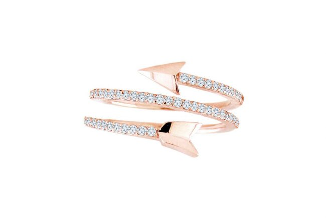Diamond Arrow Ring Gifted Unique