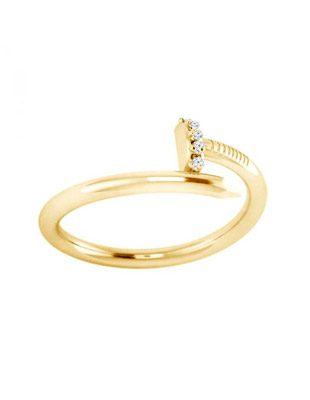 Diamond and Gold Nail Ring