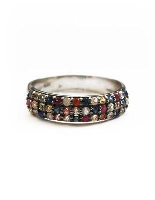 Sapphire Rainbow Ring $425