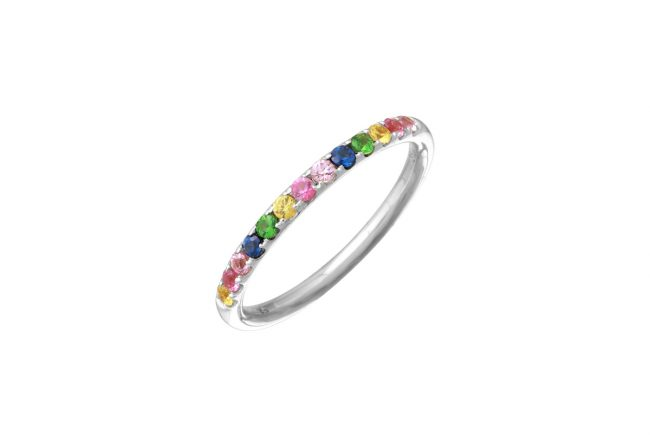 Rainbow stacking ring gifted unique