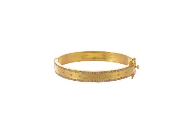 Gold diamond cuff_LG