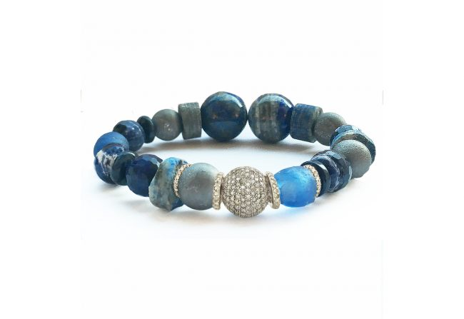 Lapis and Diamond Bracelet – Gifted Unique