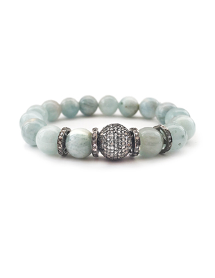 Aquamarine and Diamond Pave Bracelet