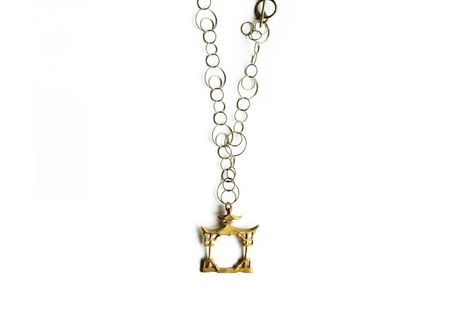 Gold pagoda Necklace