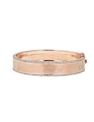 Diamond and Rose Gold Cuff