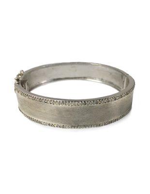 Sterling silver and diamond cuff