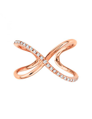 Swirl diamond trend ring $675