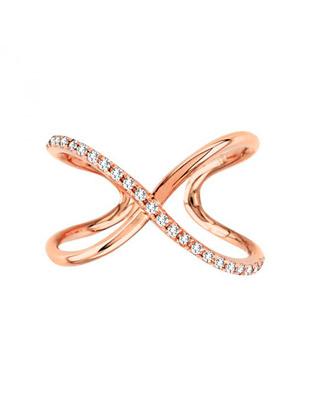 Swirl diamond trend ring $675