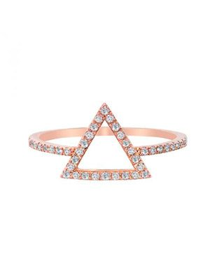 Triangle Diamond Ring $575