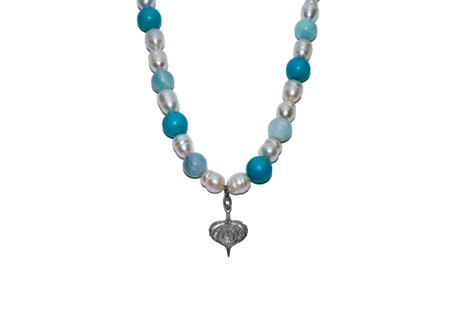 Pearl-diamonds-Turquoise-necklace-Gifted-Unique-LG