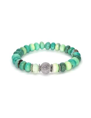 Chrysoprase and diamond bracelet