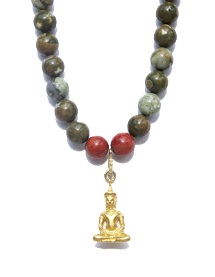 Jasper and coral necklace