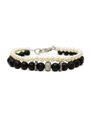 Diamond, Pearl and Black Onyx