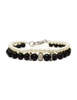 Diamond, Pearl and Black Onyx