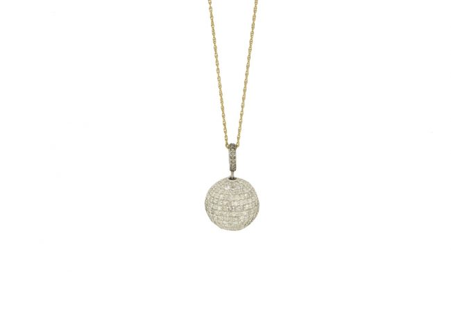 Diamond-Pave-Ball-on-Gold-Chain-with-Gold-Loop
