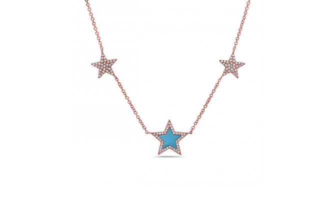 Turquoise-diamonds-and-star-necklace