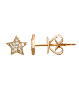 Diamond Star Studs $255
