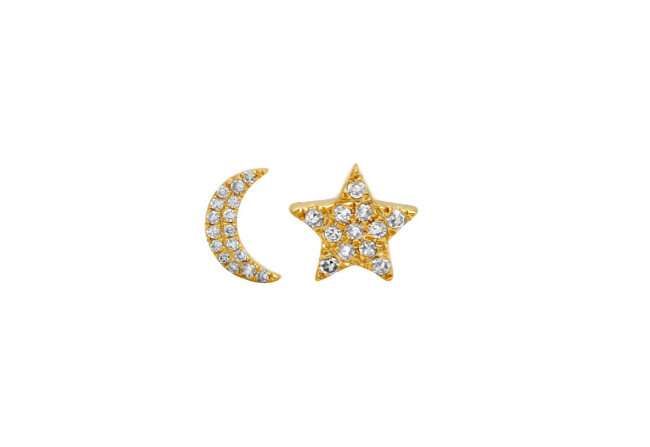 Moon-and-Star-Diamond-Studs-Gifted-Unique