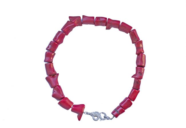 Coral-Necklace-with-Diamonds-Gifted-Unique